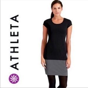 Athleta | Ella Black Colorblock Dress
